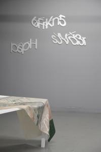 Aram BARTHOLL Are You Human ?  2011-2012, aluminium, dimensions variables, © Aurélie Cenno