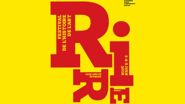 Visuel de la 6ème édition du Festival de l'histoire de l'art. Studio Philippe Apeloig